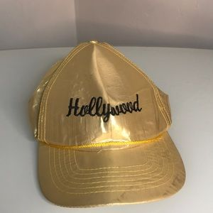 Vintage Gold Hollywood Baseball Cap